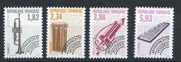 France Préo N°228/31** (MNH) 1993 - Instruments De Musique (VI) - Préoblitérés