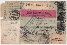 1920, Paketkarte , Nach Norwegen , Massen Mef !!  , #a1834 - Deutschland
