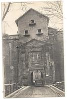 "BELFORT . LA PORTE DE BRISACH + CUL DE VOITURE MILITAIRE IMMATRICULE ""  170542 "" . ECRITE AU VERSO EN MAI 1918 - Belfort - City"