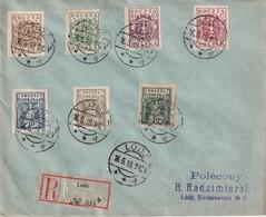 POLOGNE 199 LETTRERECOMMANDEE DE LODZ - Lettres & Documents