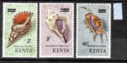 Kenya 1975 Shells Definitives Overprints MLH CV £21.50 - Coneshells