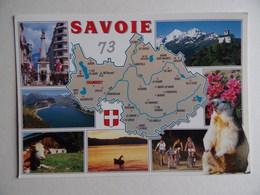 73 Carte Département De La SAVOIE Faune Vache Marmotte Eléphant - France