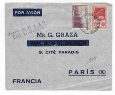 ARGENTINA - 1947 - ENVELOPPE Par AVION Via B.S.A.A De BUENOS AIRES => PARIS - Argentina