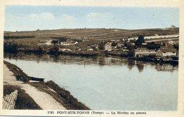 PONT-sur-YONNE La Rivière En Amont (1887) - Pont Sur Yonne