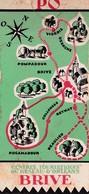 1930 Centres Touristiques Orléans -Brive En Passant Par Pompadour,Vigeois,Beynat,Beaulieu,Uzerche (circuit Automobile) - Non Classificati