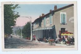 Cpa  -07  - Saint Peray  -   - Avenue De La Gare Cafe   -   - Animation   -  19?? - Saint Péray