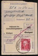 1928, Nr. 390, Frankierter Postschein !  R ! , #a1839 - Deutschland