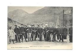 05 BRIANCON Soldats Français Et Italiens A La Frontière - Briancon