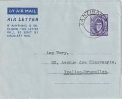 ZANZIBAR  ENTIER POSTAL/GANZSACHE/POSTAL STATIONERY LETTRE - Zanzibar (1963-1968)