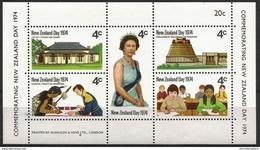 New Zealand  - 1974 New Zealand Day S/sheet MNH **   Sc 552 - Blocs-feuillets