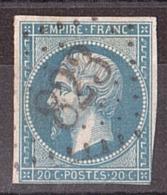 Napoléon III N° 14A -GC 823 Cevins (Loire) - Marcophilie (Timbres Détachés)