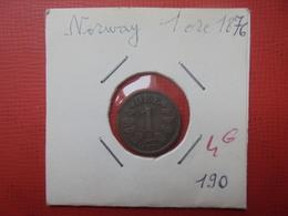 NORVEGE 1 ÖRE 1876 (A.4) - Norvège