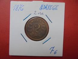 NORVEGE 2 ÖRE 1876 (A.4) - Norvège