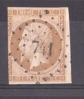 Napoléon III N° 13A - PC 741 La Chapelle Sous Rougemont (Haut-Rhin) - Marcophilie (Timbres Détachés)