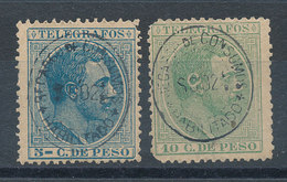 Philippines N°11 Et 12 Timbres Fiscaux-postaux - Philippines