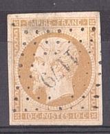 Napoléon III N° 13A - PC 1179 Entrains Sur Nohain (Nièvre) - Marcophilie (Timbres Détachés)