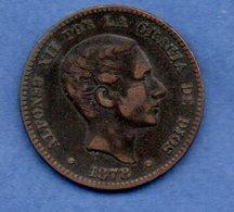 Espagne -  10 Centimos  1878 OM - Km # 675  -  état  TB+ - [ 1] …-1931 : Royaume