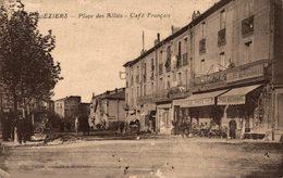 743-2019    BEZIERS   PLACE DES ALLIES  CAFE FRANCAIS - Beziers