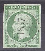Napoléon III N° 12 PC 1837 Maintenon (Eure Et Loir) - Marcophilie (Timbres Détachés)