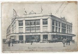 BELFORT . NOUVEAU QUARTIER . TIMBRE DECOLLE SUR RECTO . CARTE USEE . AFFR LE 19-9-1904 . 2 SCANES - Belfort - Ville