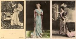 3 Cpa Femmes 1900, Eggerth Faber Felyne - Entertainers