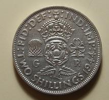 Great Britain 2 Shillings 1944 Silver - 1902-1971: Postviktorianische Münzen