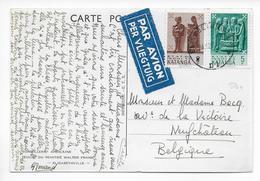 1962 - CONGO BELGE / KATANGA INDEPENDANT - CARTE Par AVION De ELISABETHVILLE => NEUFCHATEAU (BELGIQUE) - Katanga