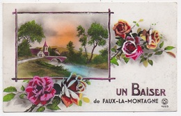 CPA 23 FAUX LA MONTAGNE Un Baiser - France