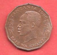 5 Senti Tano , TANZANIE , Bronze , 1966 , N° KM # 1 - Tanzanie