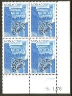 MONACO PREO N°41** Bloc Coin Daté De 4 Valeurs (5/1/1976) - COTE 9.80 € - Préoblitérés