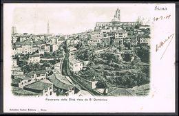 SIENA, Panorama Della Citta Visto Da S. Domenico, Viagg. 1901 - Siena
