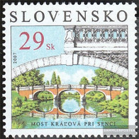 Slovakia 565 (complete Issue) Unmounted Mint / Never Hinged 2007 Monuments - Slovakia