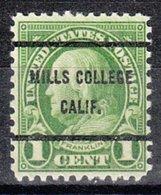 USA Precancel Vorausentwertung Preo, Bureau California, Mills College 632-61 - Vereinigte Staaten