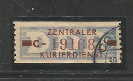 DDR. Wertstreifen Für Den ZKD,  Nr. 20 C Gestempelt - DDR