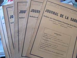 Les 5 Premiers Numéros Du JOURNAL DE LA SARRE - 1931 - 1932 - ASSOCIATION FRANCAISE DE LA SARRE - Journaux - Quotidiens