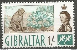 Gibraltar - 1960 Barbary Ape 1s MNH **  Sc 156 - Gibraltar