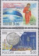 Russland 1088,1095 (completa Edizione) MNH 2003 Space Flight Un Donna, Geldwäsche - 1992-.... Föderation