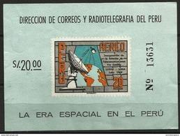 Peru - 1969 Lurin Satellite Station S/sheet MNH **  Sc C242a - Peru