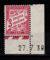 Taxe YV 42A N** Petit Coin Daté - Postage Due
