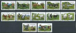 FRANKREICH FRANCIA FRANCE 2015 Chèvres Obl Série Complète YT-1096-107 AA - Gebraucht