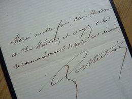 Jean BERTHELIER (1828-1888) Chanteur TENOR Opéra Et Opérette. [ Offenbach ] AUTOGRAPHE - Autographs