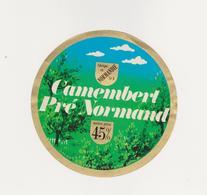 ETIQUETTE DE  CAMEMBERT DUPONT D ISIGNY 14 B PRE NORMAND - Quesos