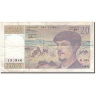 France, 20 Francs, 20 F 1980-1997 ''Debussy'', 1993, TB+, Fayette:66 Bis.4 - 1962-1997 ''Francs''