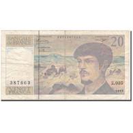 France, 20 Francs, 20 F 1980-1997 ''Debussy'', 1992, TB, Fayette:66bis.3 - 1962-1997 ''Francs''