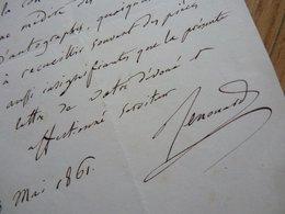 Charles RENOUARD (1794-1878) Avocat. Député AMIENS. Pair De France. AUTOGRAPHE - Autographs