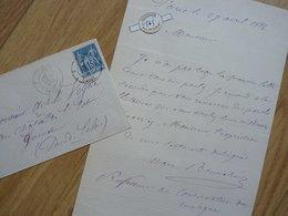 Marc BONNEHEE (1828-1886) Chanteur BARYTON. Artiste Lyrique OPERA Paris & Toulouse. AUTOGRAPHE - Autographs