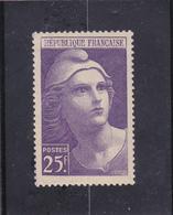 MARIANE DE GANDON N° 731 - 25frs Violet - à Voir - Neufs