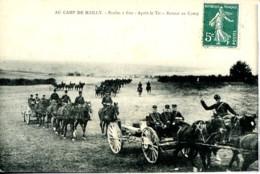 Dpt 10 Mailly Le Camp Ecoles A Feu Apres Le Tir, Retour Au Camp - France