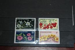 Lot Timbres Tchad Fleurs - Chad (1960-...)
