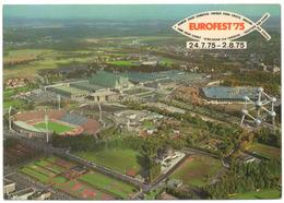 Bruxelles Brussel 1975 STADE FOOTBALL HEYSEL Atomium Palais Centenaire Vue Aérienne Aerial Vew - Brussels Soccer Stadium - Football